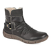 Relife by Pavers Water Resistant Ankle Boot with Zip Fastening - Black