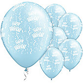 11' Birthday Around Pearl Light Blue (25pk)