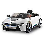 BMW i8 Licensed 12v Kids Electric Car - White