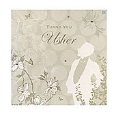 Enchanted Usher Wedding Thank You Card