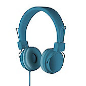 Goodmans Over Ear Headphones with Microphone and Volume Control - Blue…
