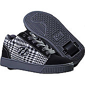 Heelys Straight Up Black/Plaid/Charcoal/White Heely Shoe - 5