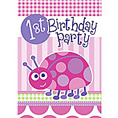 Ladybug 1st Birthday Invitation Cards (8pk)