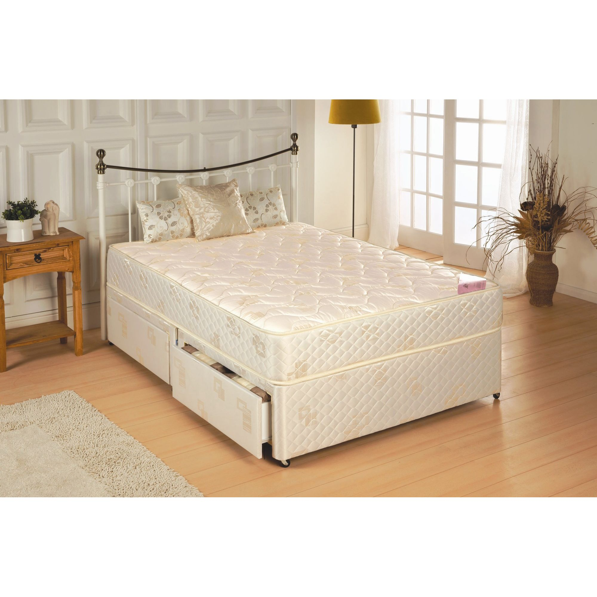 Repose New Jasmine Platform Set - Small Single/Single / 2 Drawer at Tesco Direct