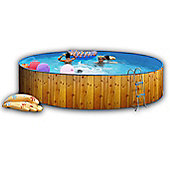 White Coral Wood Effect Pool 4.5m x 0.9m