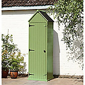2 x 2 Green Beach Style Apex Sentry Shed