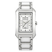 Karen Millen Ceramic Ladies Ceramic Stainless Steel Swarovski Crystal Watch KM119SM