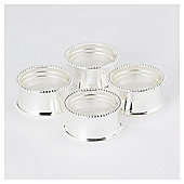 Silver Round Napkin Rings 4 pack