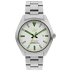 LTD Steel Ex Unisex Silver Stainless Steel Date Watch 280106