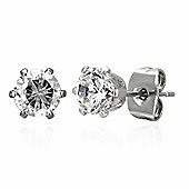 Urban Male 4mm Round CZ Stainless Steel Stud Earrings For Men