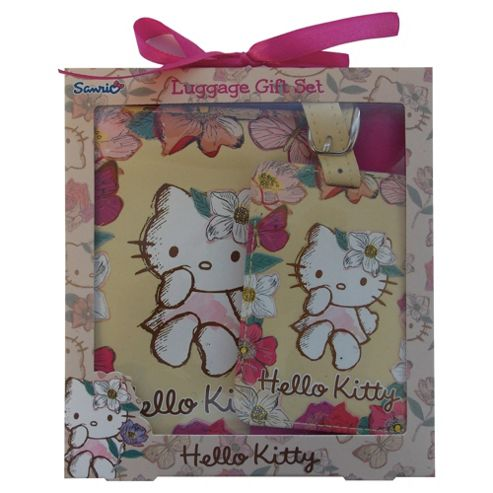 Hello Kitty Passport Holder & Luggage Tag Set