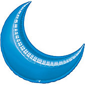 Blue Crescent Balloons - 35' Foil Balloon (3pk)