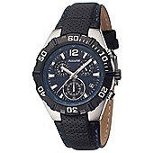 Accurist Gents Black Leather Strap Watch MS832N