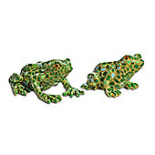 Larry and Harry the Resin Mosaic Coloured Garden Frog Ornaments