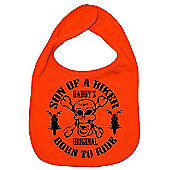 Dirty Fingers Son of a Biker Daddy's Original Born to Ride Bib Orange