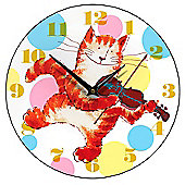 Smith & Taylor Cat and Fiddle Children's Wall Clock