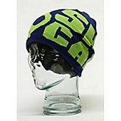 F9 Atlas Logo Beanie in Navy and Lime