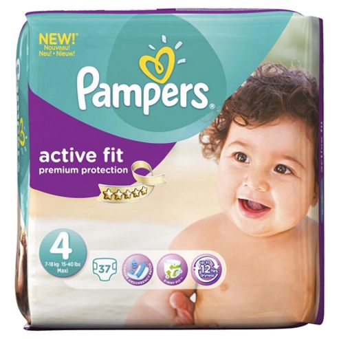 Pampers Active Fit Size 4 Essential Pack - 37 nappies