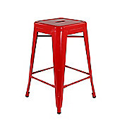Xavier Pauchard Low Red Tolix Style Stool