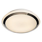 Energy Saving Bathroom Lighting Fitting with Satin Silver Trim