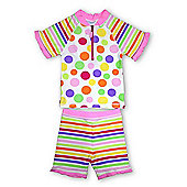 Jakabel Kids UV Sun Protection Set - Pink Dots - Pink
