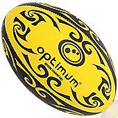 Optimum Tribal Training Rugby Ball Yellow / Black 4
