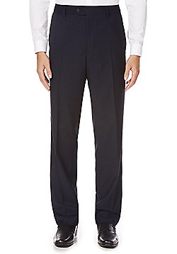 F&F Navy Tailored Fit Suit Trousers - Navy