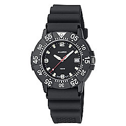 M-Watch Maxi Aqua Mens Rubber Date Rotating Bezel Watch A661DIV.720204A