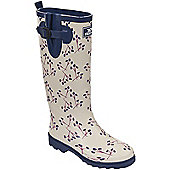 Trespass Ladies Elena Printed Wellington Boot - Cream