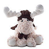 Reid the 30cm Cream Plush Fabric Sitting Christmas Reindeer Decoration