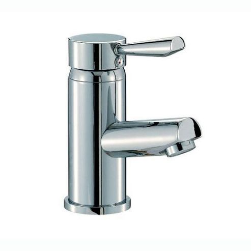 Mayfair Onyx Mono Basin Mixer Tap with Pop Up Waste, Chrome