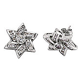 Jewelco London Rhodium-Coated Sterling Silver Stud Earrings
