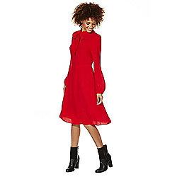 F&F Pussybow Dress 12 Scarlet