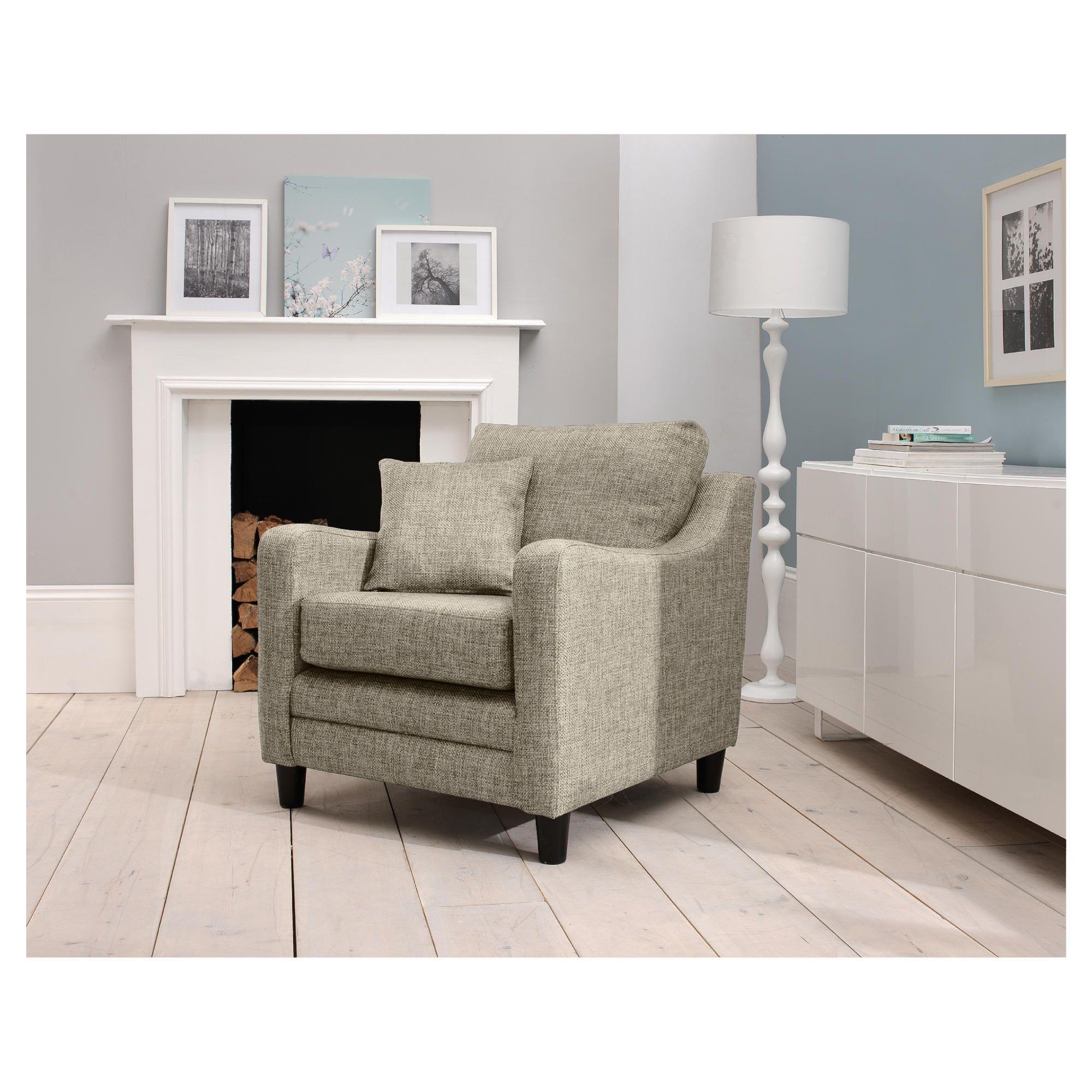 Buckingham Fabric Armchair Sofa Biscuit at Tesco Direct