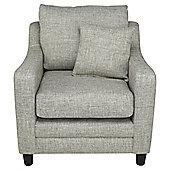 Buckingham Fabric Armchair Sofa Biscuit