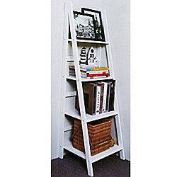 Scott - Ladder 4 Tier Storage / Display Shelves - White