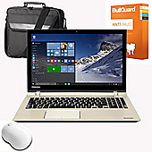 "Toshiba P50t-C-111 15.6"" Laptop Intel Core i5-6200U 16GB RAM 1TB HDD+8GB SSD Windows 10 With Mouse, Antivirus & Case"