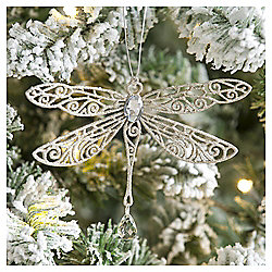 Weiste Glitter Gold Dragonfly Christmas Tree Decoration