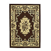 Think Rugs Marrakesh Brown/Beige Rug - 60 cm x 105 cm (2 ft x 3 ft 6 in)
