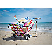 Roll on summer Multi Stripe Sun Lounger Trolley