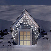 300 White Connectable Icicle Lights