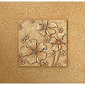 Oceans Apart Cream 3 Flowers Tile Wall Art