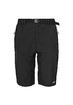 Trespass Mens Lomas Active Shorts - Black