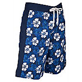 Mountain Warehouse Hawaiian Mens Board Shorts - Blue