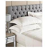 100% Egyptian Cotton Fitted Sheet Ivory, Kingsize
