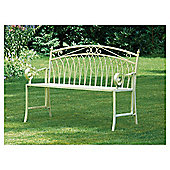 Versailles Garden Bench, Antique Cream