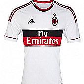 2012-13 AC Milan Adidas Away Football Shirt (Kids) - White