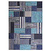 InRUGS Patch Blue Woven Rug - 200cm x 140cm (6 ft 6.5 in x 4 ft 7 in)