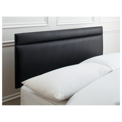 Seetall Liberty Headboard Black Faux Leather King