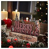 Mini Merry Christmas Sign Room Decoration
